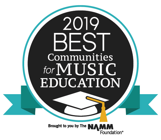 "HPCSD Receives ""Best Communities for Music Education 2019"" Designation from The NAMM Foundation for the 3rd Consecutive Year"