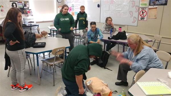"Students in ""Critical Issues in Health"" Classes Learn CPR"