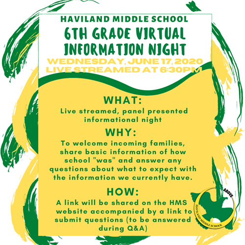 6th Grade Virtual Information Night