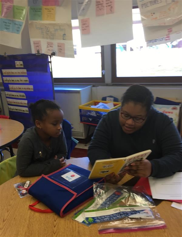 HMS AVID Reading Buddies with RR Smith
