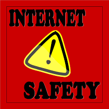 Students Post Sign to Promote Internet Safety