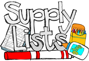 Supply Lists for 2019-2020
