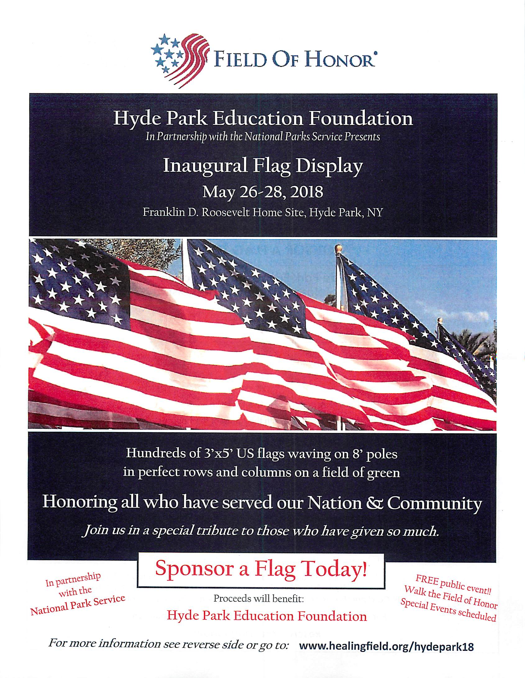 Hyde Park Education Foundation - Field Of Honor Event