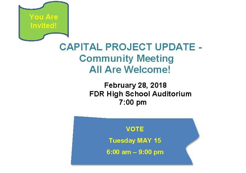 CAPITAL PROJECT UPDATE: Community Meeting